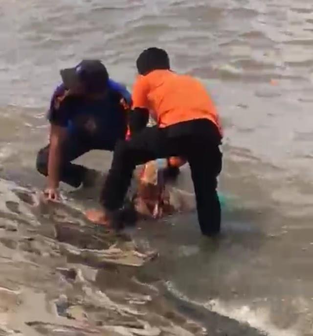 Seorang Perempuan Ditemukan Mengapung di Tepi Pantai Taman Andam Dewi