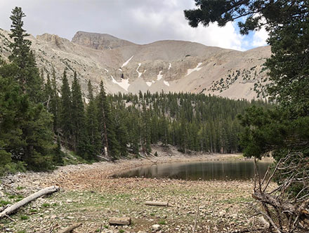 This lake at 10,000+ feet is about half way on the hike to the glaciers (Source: Palmia Observatory)