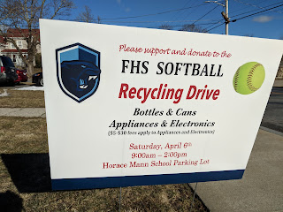 FHS Softball Recycle Event - Saturday, April 6