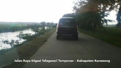 Jalan Raya Irigasi Tempuran Karawang, Butuh Lampu Penerangan Jalan Umum (PJU) dan Marka Jalan