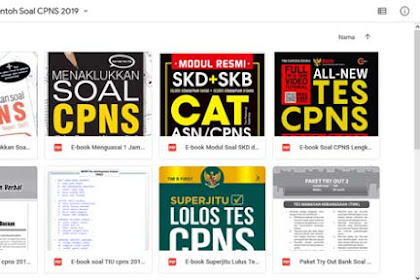 Download e-book Bank Soal CPNS Bentuk HOTS CPNS 2019 + Bonus ebook CPNS 2019