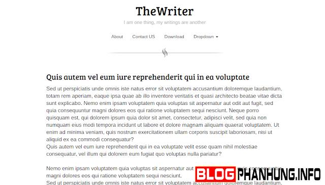 TheWriter Blogger Template - Mẫu Giao Diện Cho Nhật Ký