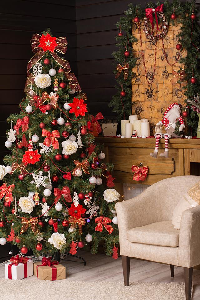 Decoración campestre en Navidad