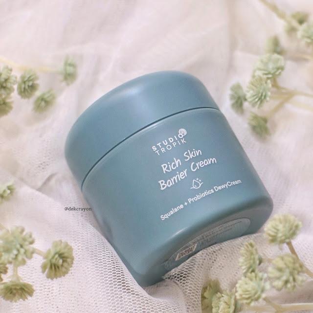 review studio tropik rich skin barrier cream untuk kulit kering