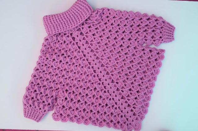 3 -Crochet Imagen Poncho con mangas a crochet y ganchillo por Majovel Crochet