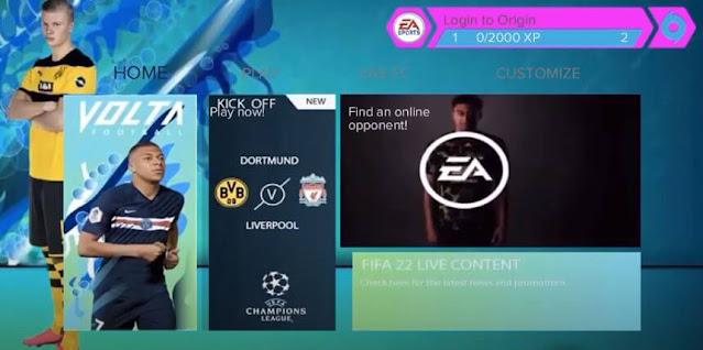 FIFA 22 Android Offline Apk Obb Data Camera PS5