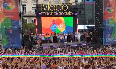 Pregón de Mónica Naranjo en las fiestas del orgullo - Agencia EFE - 03/07/2019