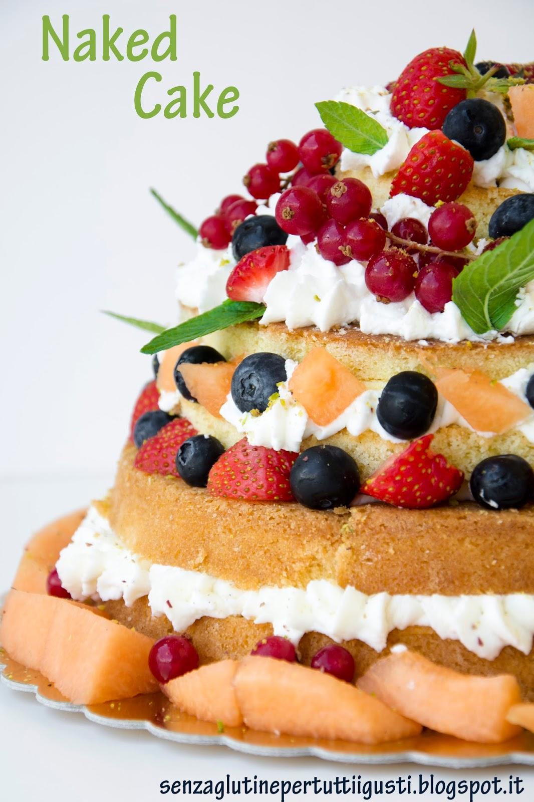 Naked Cake alla frutta estiva senza glutine fatta in casa
