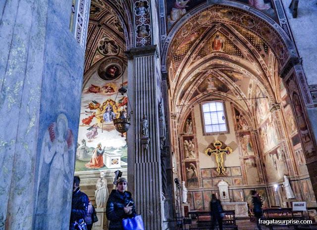 Florença - Capella Castellani, na Basílica de Santa Croce