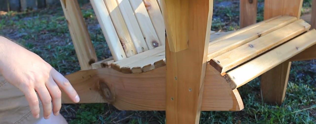 Simply Easy Diy Cedar Adirondack Chair And Patio Set Part 1