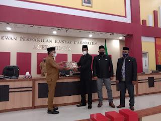 Bupati Aceh Timur Laporkan LKPJ 2020