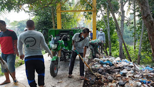 Pijay Gleeh Bersihkan Sampah di HPSN 2021