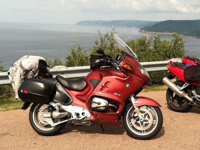 My 2004 BMW R1150 RT, on the Cabot Trail in Nova Scotia