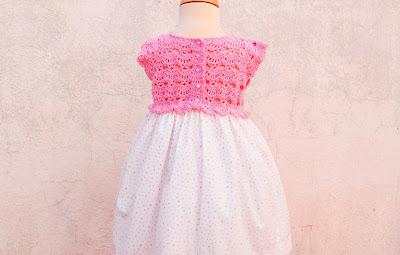 2 - Crochet Imagen Falda para canesú rosa a crochet y ganchillo por Majovel Crochet