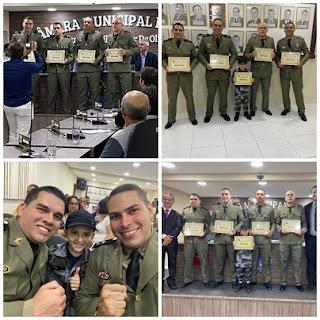 Câmara Municipal de Picuí homenageia policiais do 9° BPM