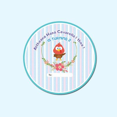 Stiker Ultah Bentuk Bulat