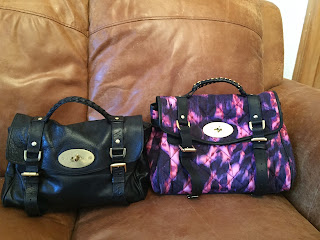 Mulberry Alexa in two different finishes