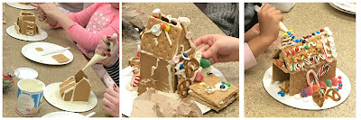 mini gingerbread house program for families, graham cracker houses