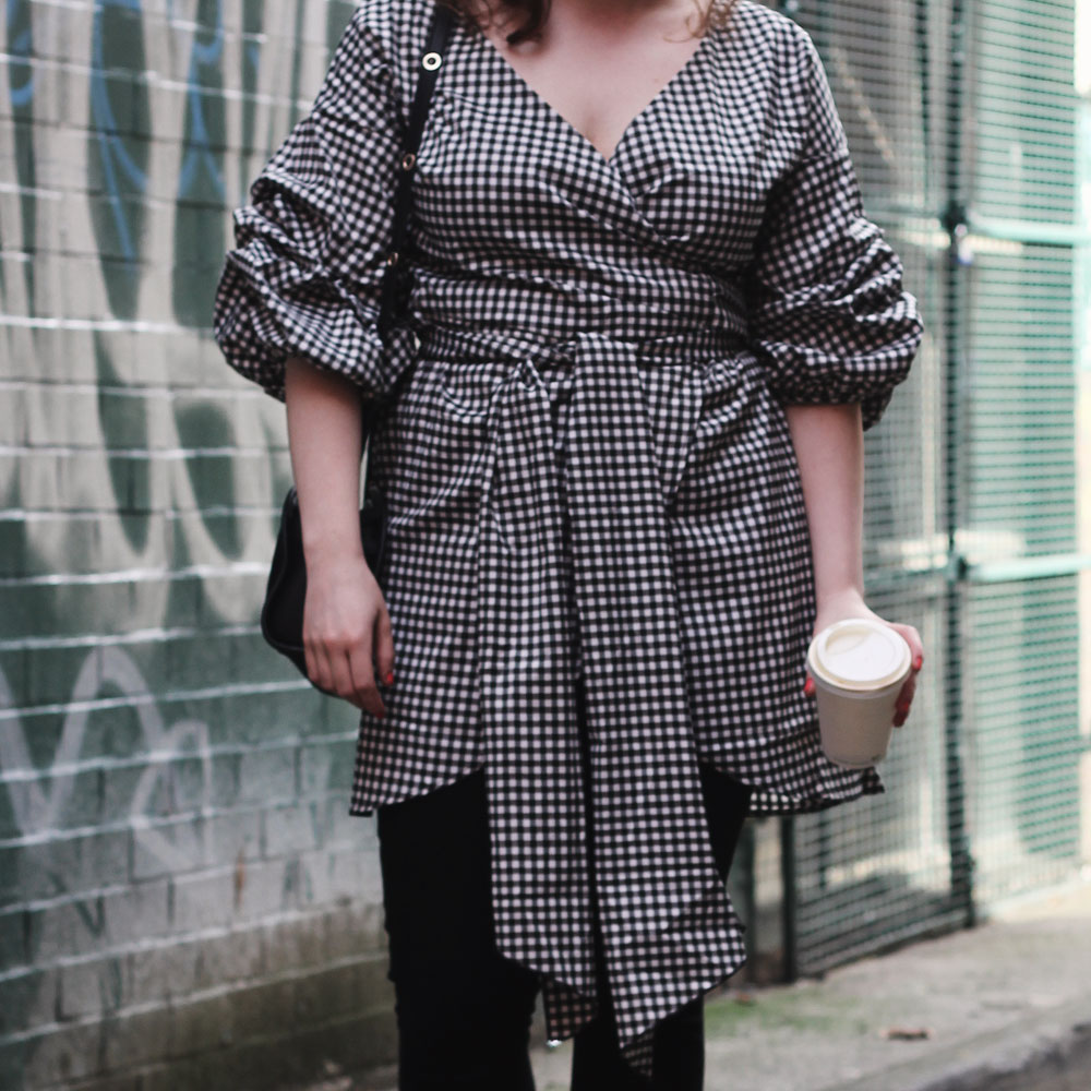 Bohoo gingham wrap dress | www.itscohen.co.uk