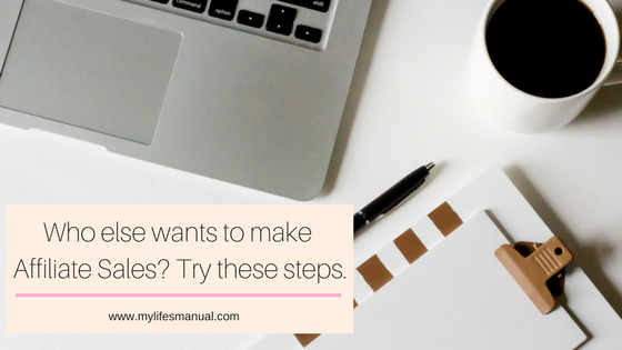 How to make affiliate sales. How new bloggers can earn money from his small blog.