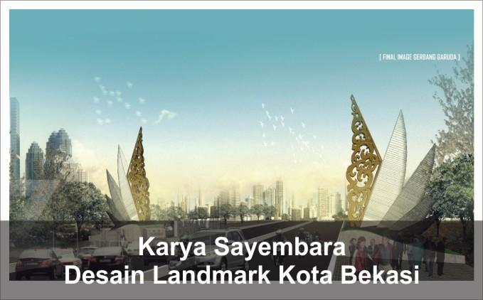 desain landmark kota bekasi