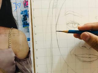 ขั้นตอนการวาดภาพเหมือนอย่างละเอียด