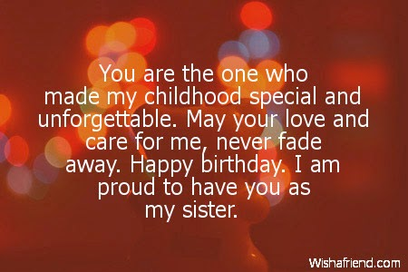 Birthday Wishes Little Sister