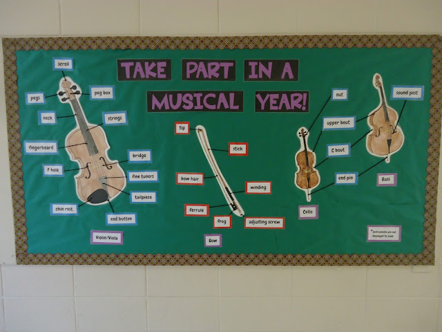 Take part in a musical year beginning-of-the-year bulletin board