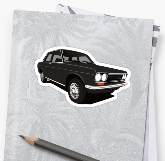 Datsun Bluebird 1600 510 stickers