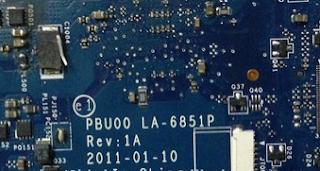 Toshiba NB520 Mainboard PBU00 LA-6851P BIOS rev 1.0 Laptop Bios
