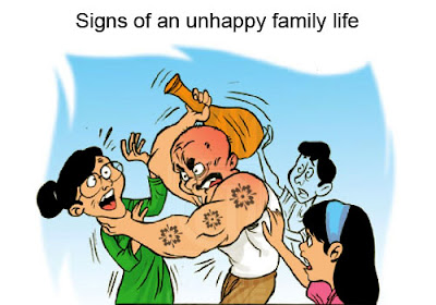 Unhappy family life