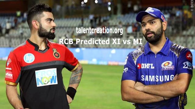 IPL 2021, RCB Predicted XI vs MI