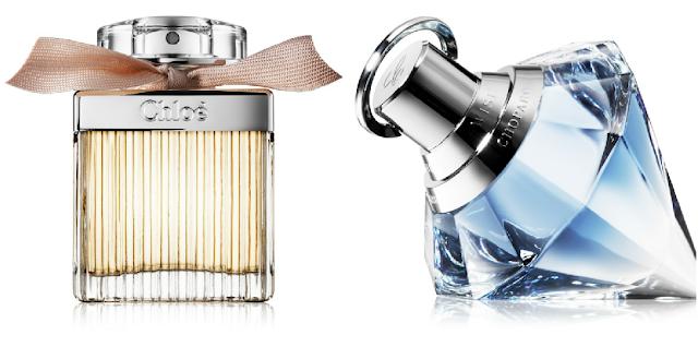 parfumované vody Chloe a Chopard