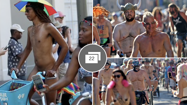 A cyclist hoped to carry a rifle and handgun in New Orleans Naked Bike Ride