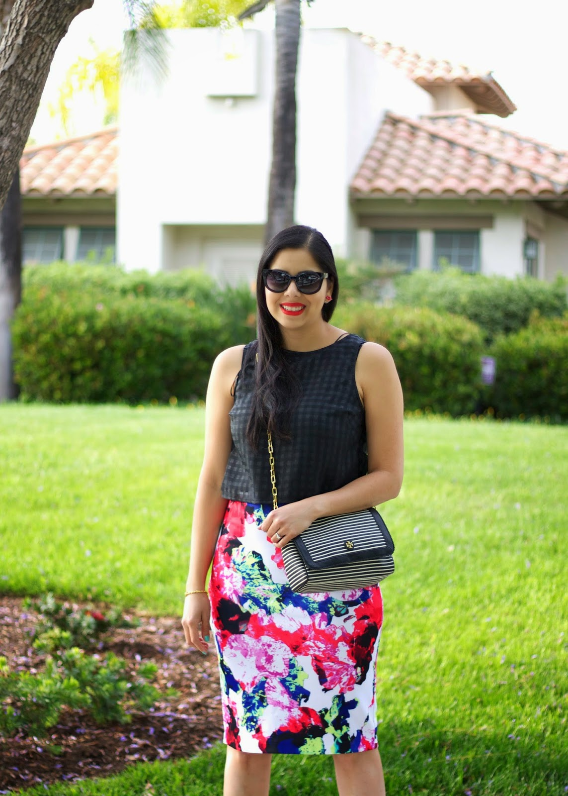 Bold Print skirt, Milly for Kohls skirt, Milly skirt, Kohls pencil skirt, Crop top for the regular woman