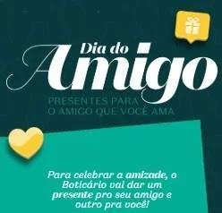 Cadastrar Promoção O Boticário Dia do Amigo 2019 - Você e Seu Amigo Ganham Presente