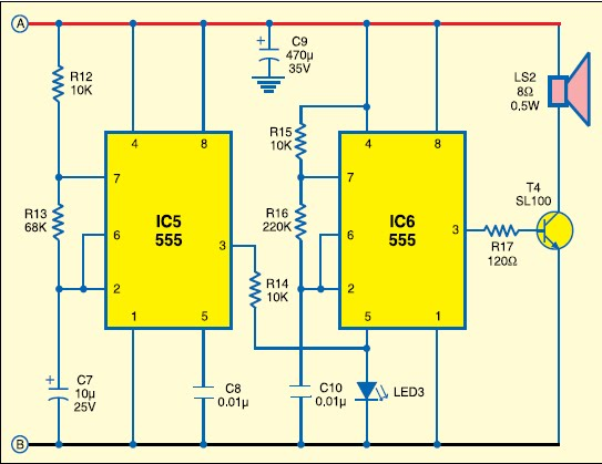 European Police Siren Circuit Electronic Projects Circuits