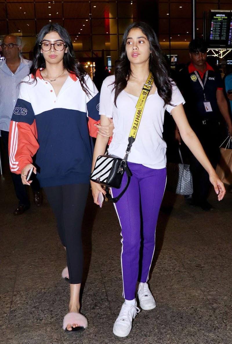 Janhvi Kapoor and Khushi Kapoor at Airport in Mumbai 5 Sep-2019