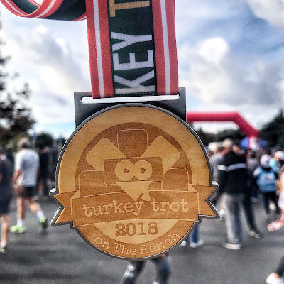 Turkey trot on the ranch 5K medal 2018