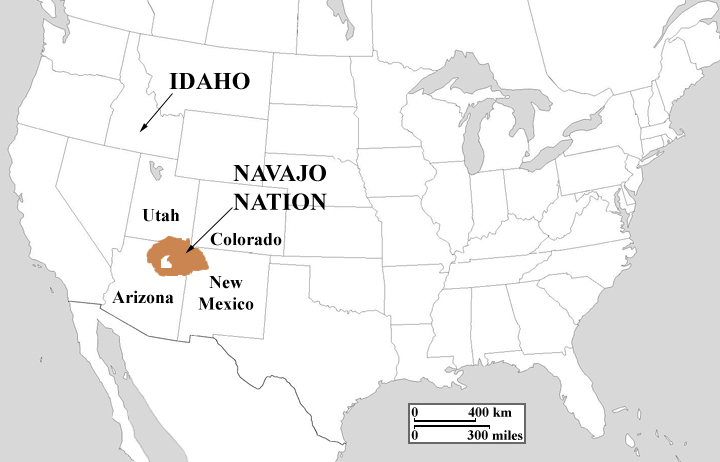 Navajo Reservation Arizona Map.Steven L Anderson Reaching The Navajo Nation With The Gospel
