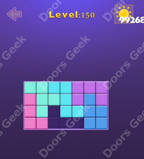 Cheats, Solutions, Walkthrough for Move Blocks Easy Level 150
