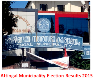Attingal Municipality Election Results 2015