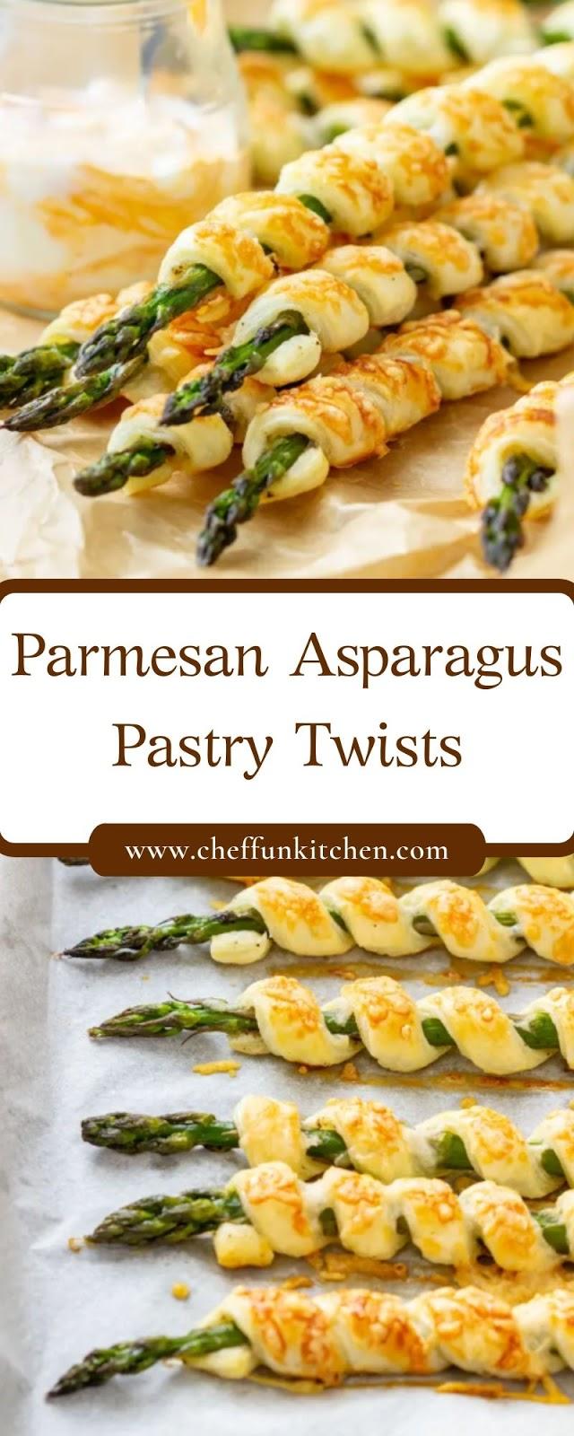 Parmesan Asparagus Pastry Twists