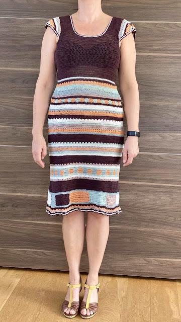 Hæklet kjole dame