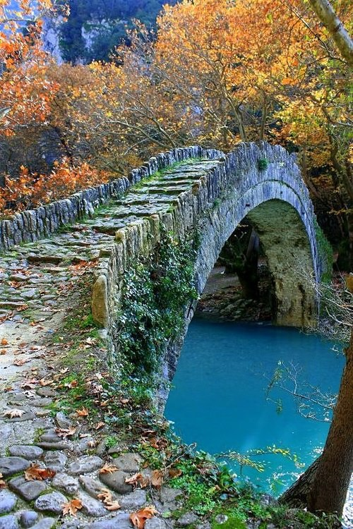 Showme Nan Ancient Stone Bridge Epirus Greece