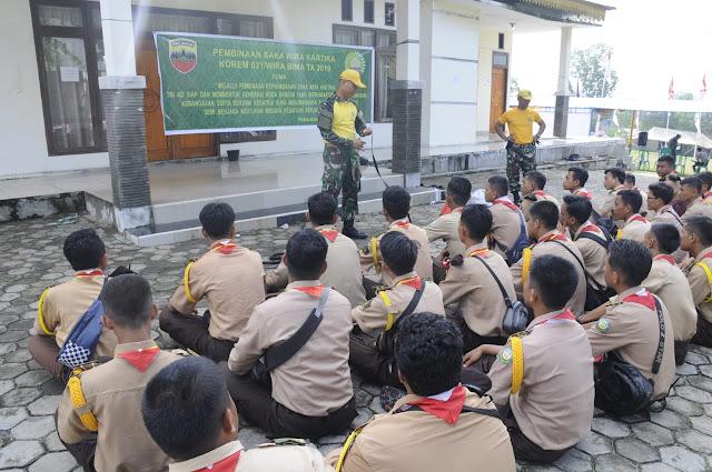 Korem 031-WB Kirim Pelatih Dalam Kegiatan Perkemahan Saka Wira Kartika