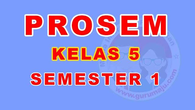 Promes Kelas 5 Semester 1 Kurikulum 2013 Tahun Pelajaran 2021/2022