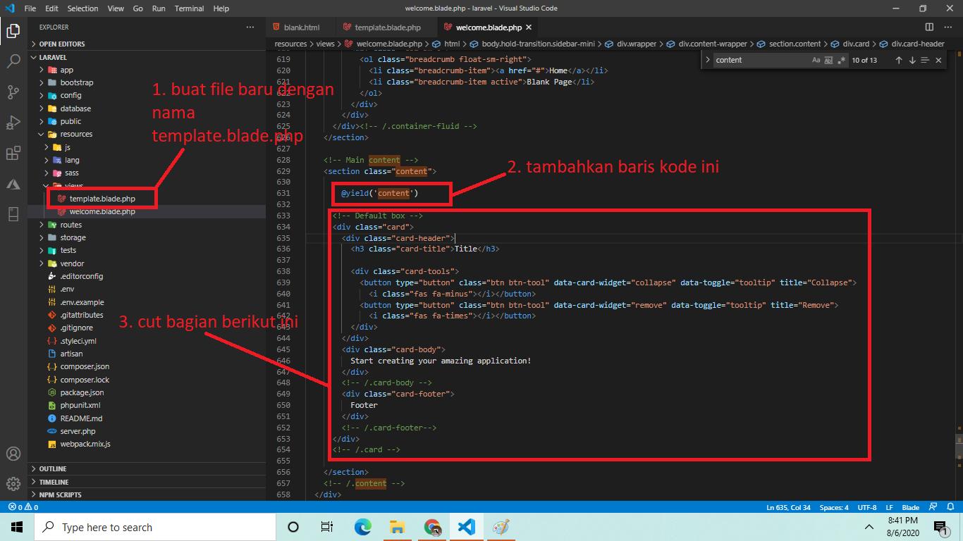 Cara Mudah Memasang Template Bootstrap di Laravel - Sahretech