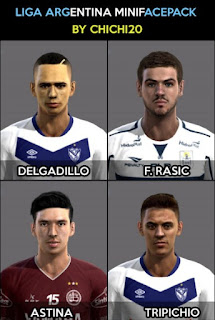 Faces: Delgadillo, Federico Rasic, Marcos Astina, Tripichio, Pes 2013