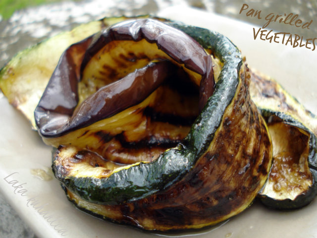 Pan grilled vegetables by Laka kuharica: for the delicious side of aubergines and zucchinis use a grill pan.